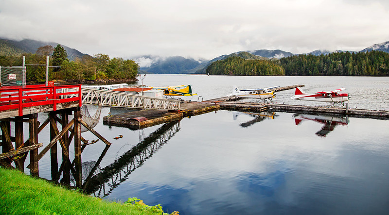 Prince Rupert Float Planes Pier, British Columbia, Canada.