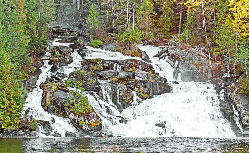 Waterfall next to the fish factory.