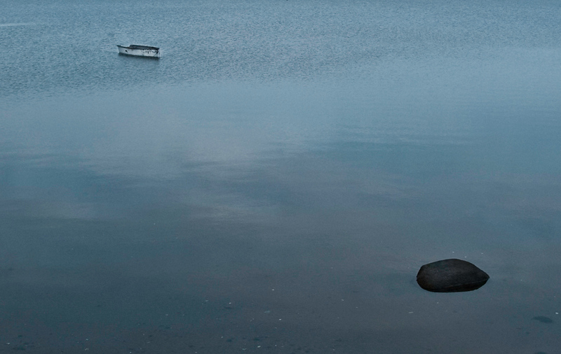 Solitary boat: Bouctouche, NB