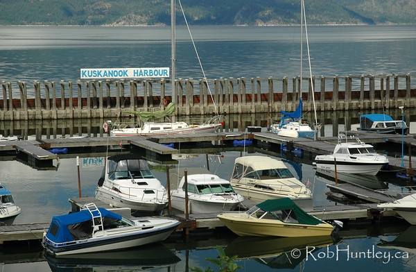 Kuskanook Harbour, Kootenay Lake, British Columbia.