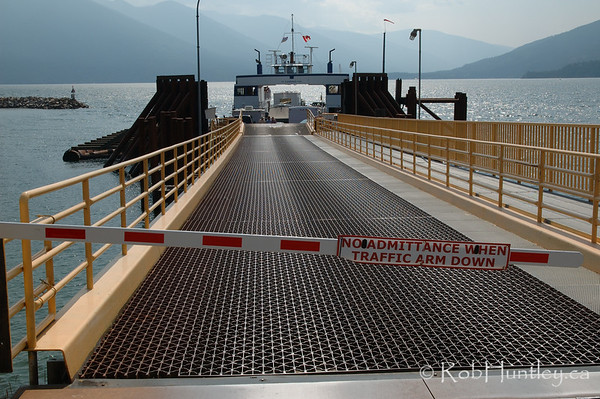 Ferry across Kootenay Lake near Crawford Bay, British Columbia.