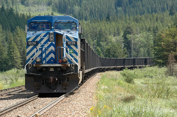 Freight train in southern British Columbia. © Rob Huntley
