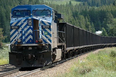 Freight train in southern British Columbia.