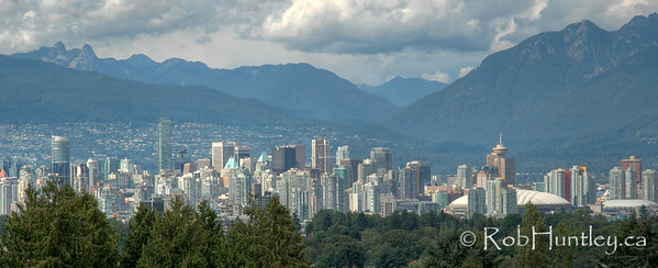 Distant view of Vancouver, British Columbia.