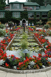 Formal garden at the Butchart Gardens, Victoria, British Columbia. © Rob Huntley