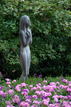 Statue at the Butchart Gardens, Victoria, British Columbia. © Rob Huntley