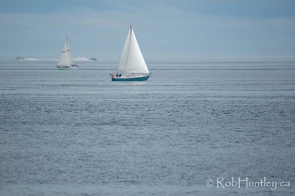 View of sailboat near Victoria, British Columbia. © Rob Huntley