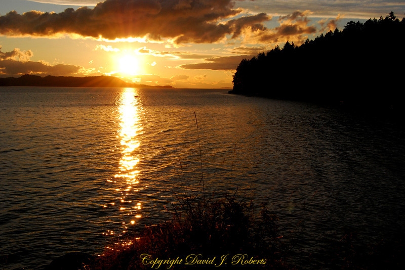 Sunset Descanso Bay Gabriola Island