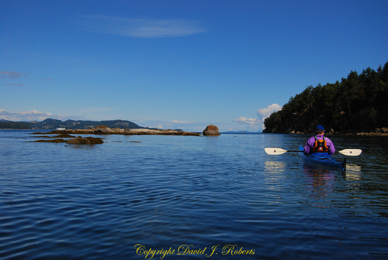 Allison kayaking near Descanso Bay Gabriola Island