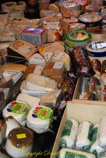 Cheese vendor in Granville Market