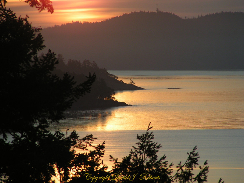Sunrise from Salt Spring Island, British Columbia