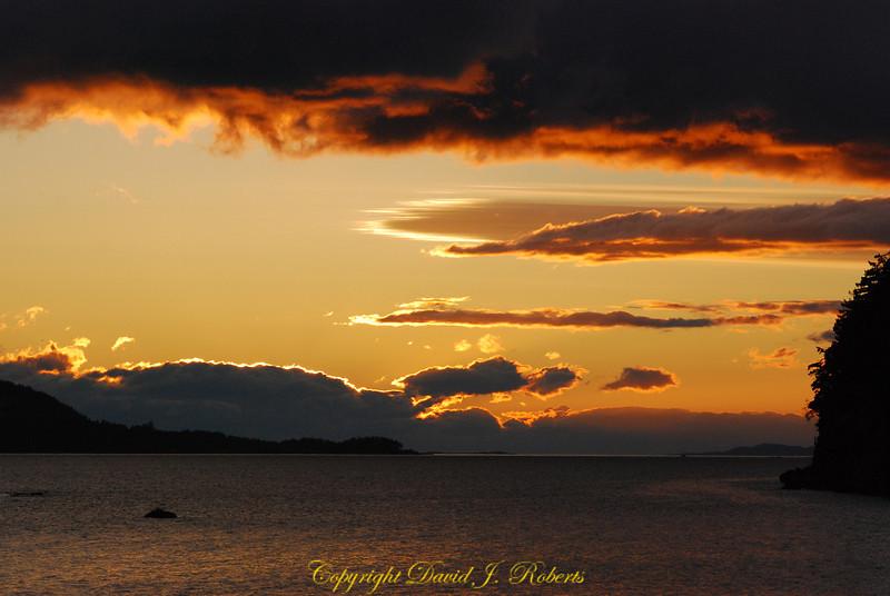 Sunset Descanso Bay Gabriola Island