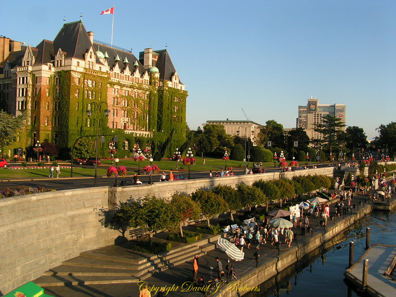 Empress Hotel and waterfront, Victoria, British Columbia