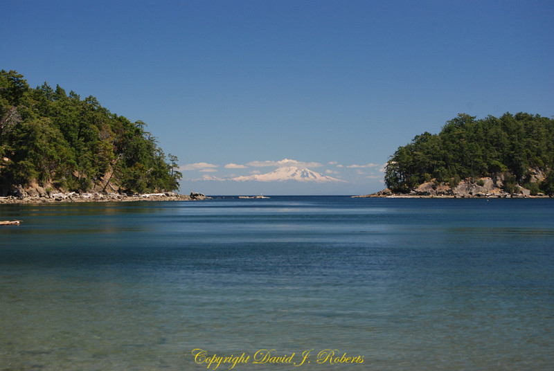 Bennett Bay with Mt Baker Mayne Is, BC