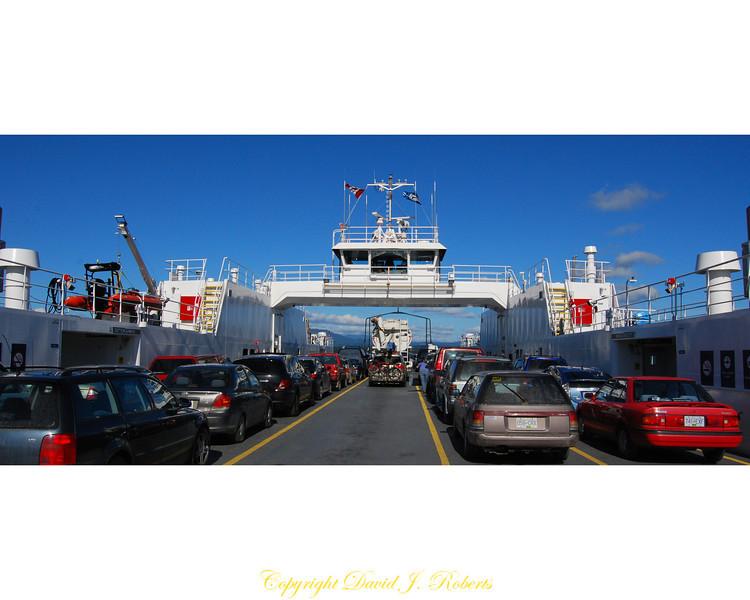 Ferry to Gabriola Island BC - Panorama