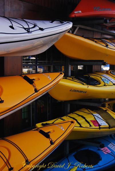 Granville Island kayaks