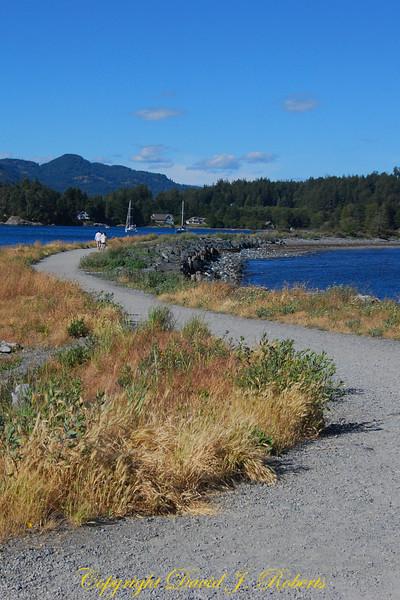 Trail on spit near Sooke Bay BC