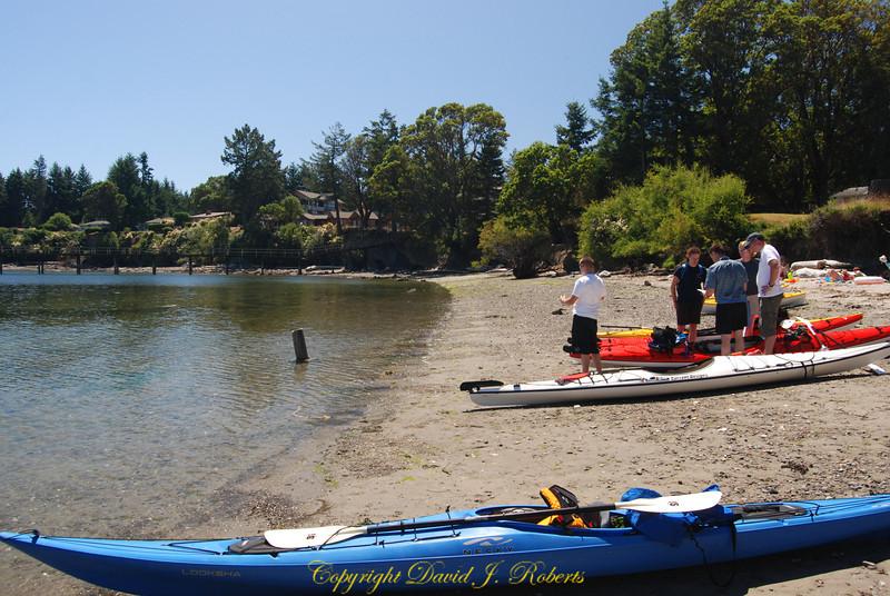 Bennett Bay kayaking Mayne Is