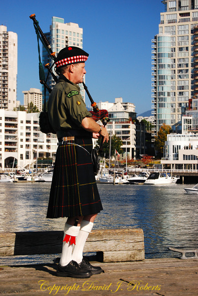 Bagpipes on Granville Island