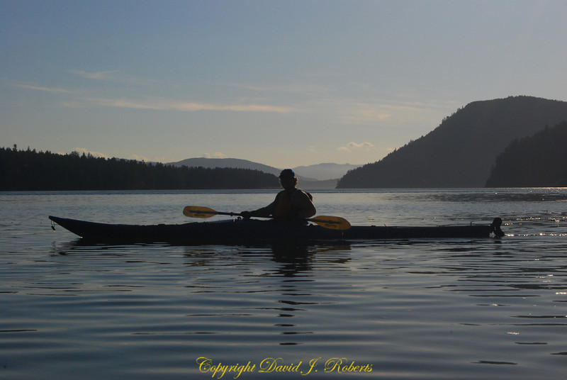 Kayaking in Sunset Miners Bay - Mayne Is, BC
