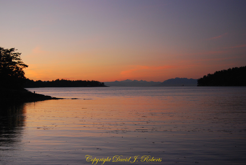 Sunset over Miners Bay Mayne Is