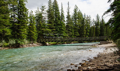 The 6th bridge of the Maligne Canyon