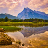 Mount Rundle in Banff, Alberta, Canada