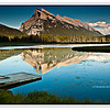 A view of Mt. Rundle across Vermillion Lakes in Banff, Alberta, Canada