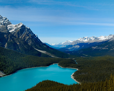 Turquoise waters of Lake Peyto, Banff National Park, Alberta, Canada