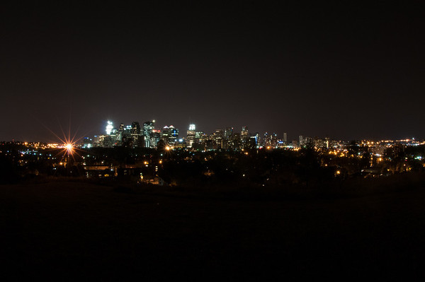 City of Calgary at night
