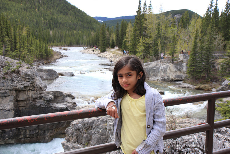 Akanksha at Elbow Falls