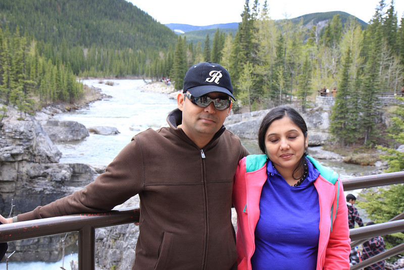 Ritesh & Trupti at Elbow falls