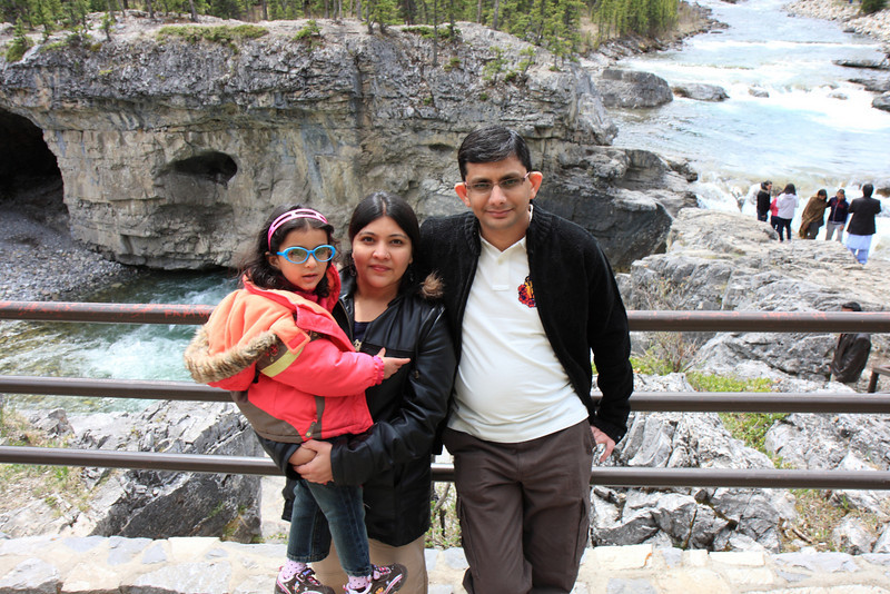 Tushar, Urvi & Sakshi at Elbow falls