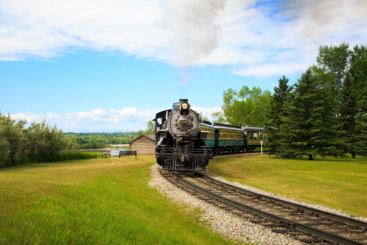 Steam Locomotive Train - Heritage Park