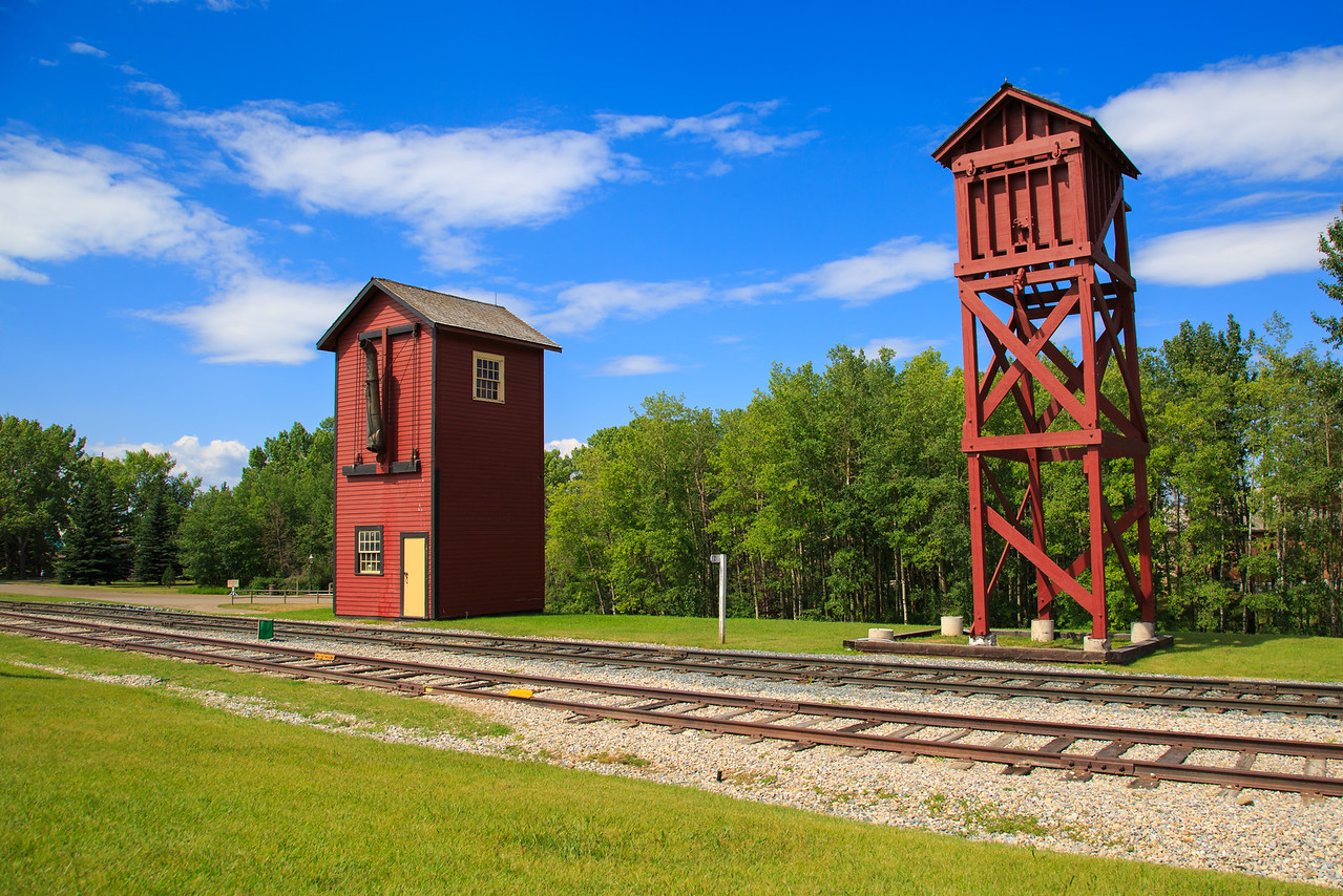 Railway Sand House (Right) & Railway Water Tower (Left)