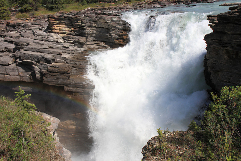 Rainbow at Athabasca Falls