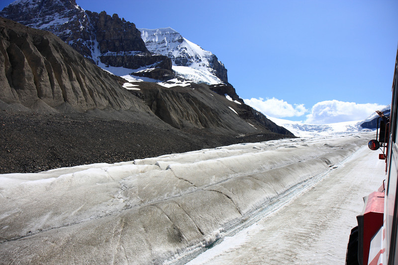 View from Columbia Icefield Glacier Tour Bus