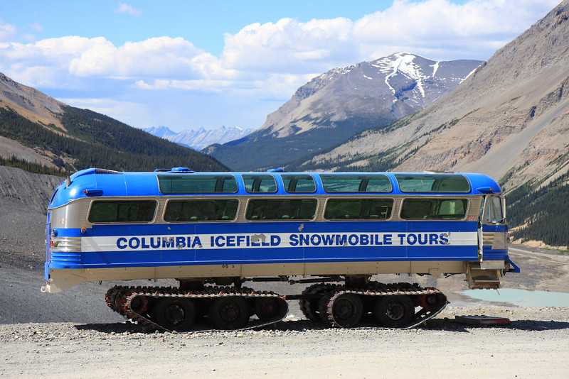 Old Columbia Icefield Snowmobile Tour Bus