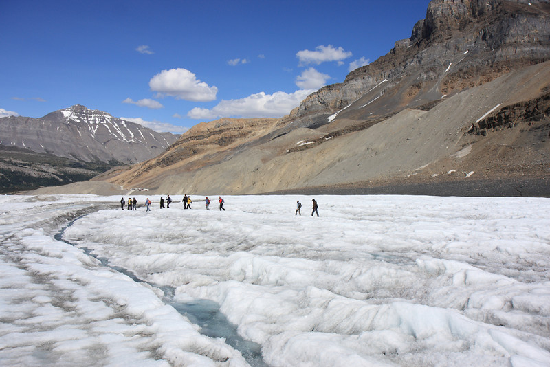 People on Glacier Walk