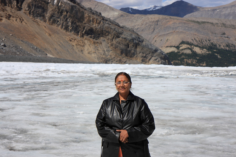 Mom at Athabasca Glacier