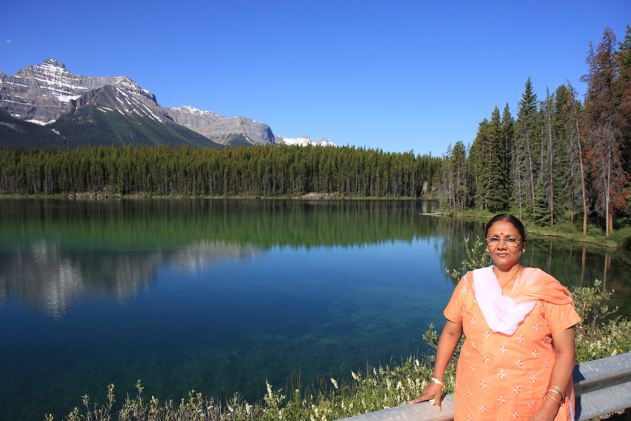 Mom at Herbert lake