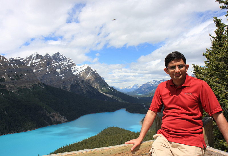 At Peyto Lake