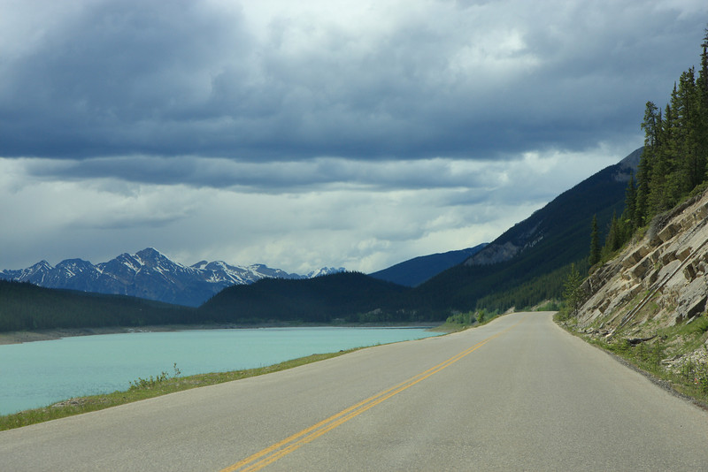 View of Medicine lake from maligne Lake Road