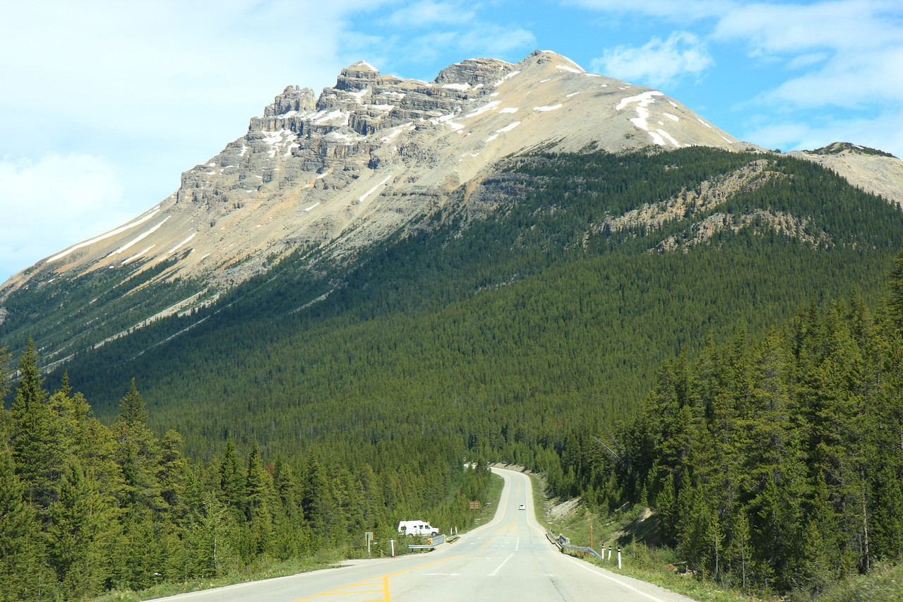 Three Sisters mountain on Highway 1