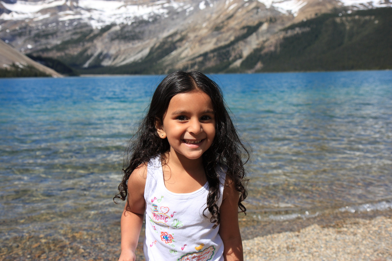 Sakshi at Bow Lake