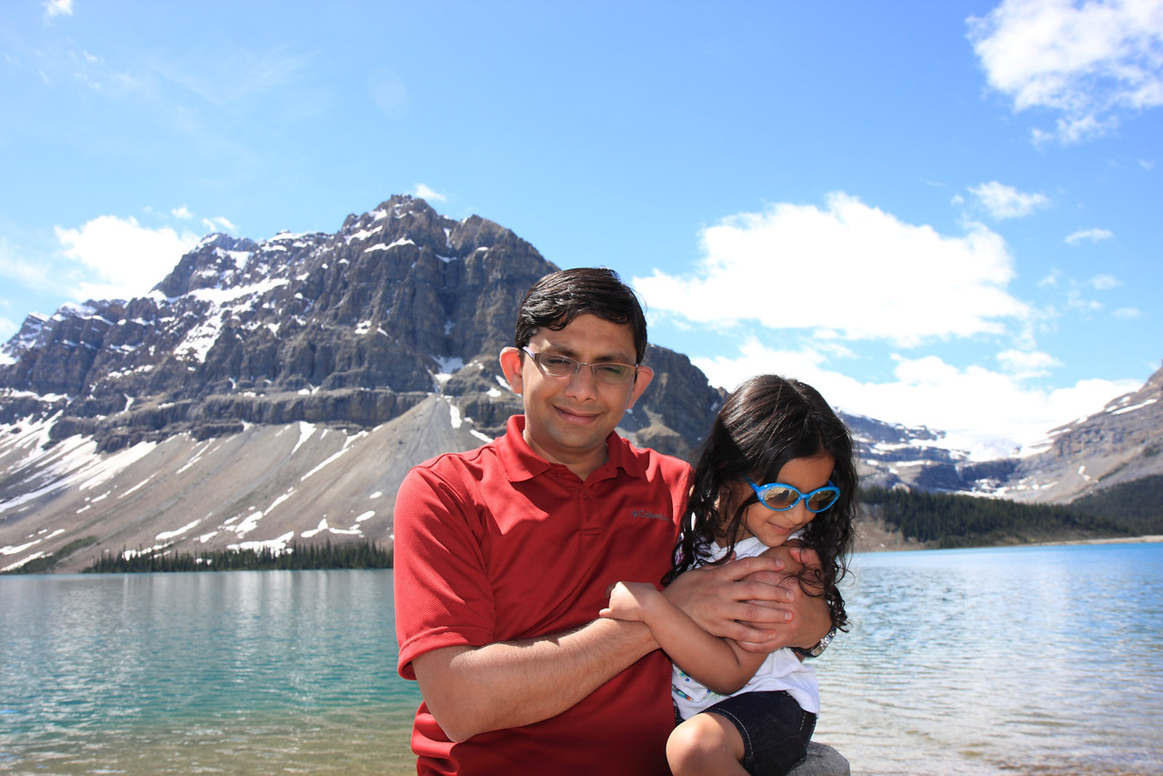 At Bow Lake from Roadside turnout at Num Ti Jah