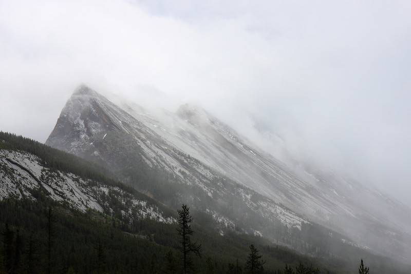 Weather on Icefield Parkway on our return to calgary