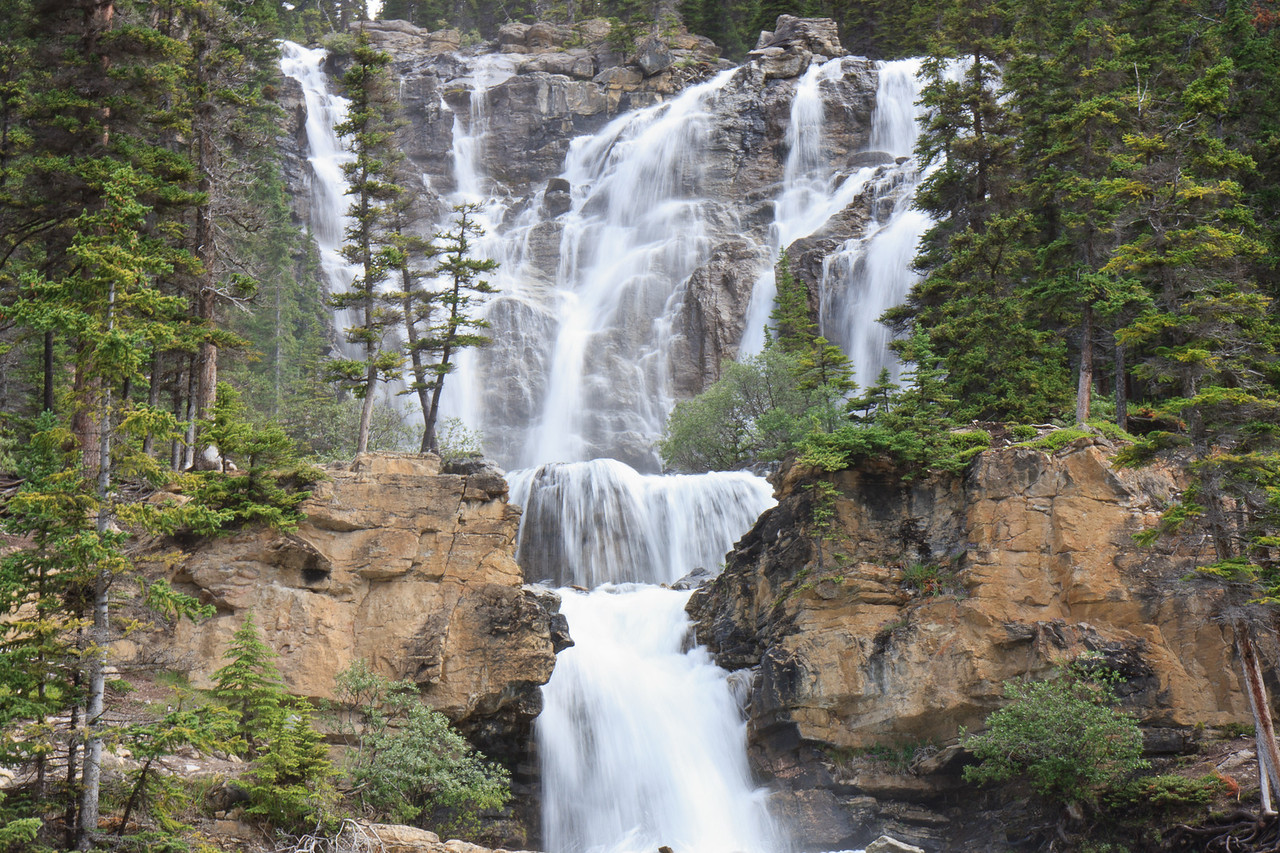 Tangle Falls on Icefield Parkway