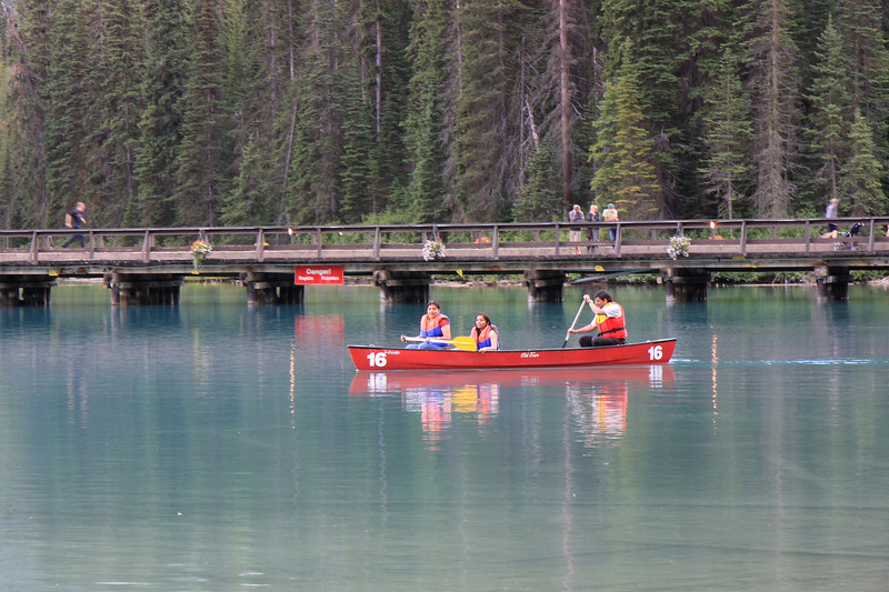 Boating at Emerald Lake, Yoho National Park