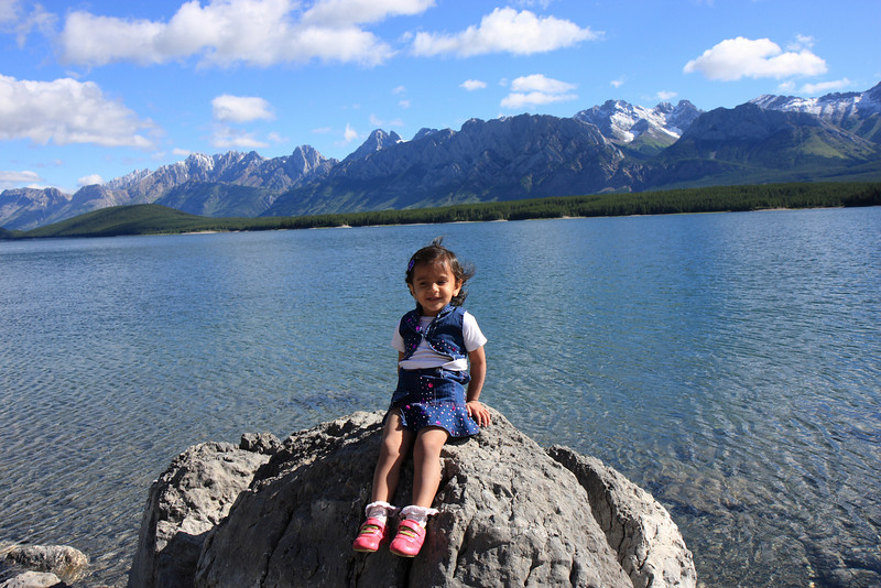 Sakshi at Upper lake Kananaskis